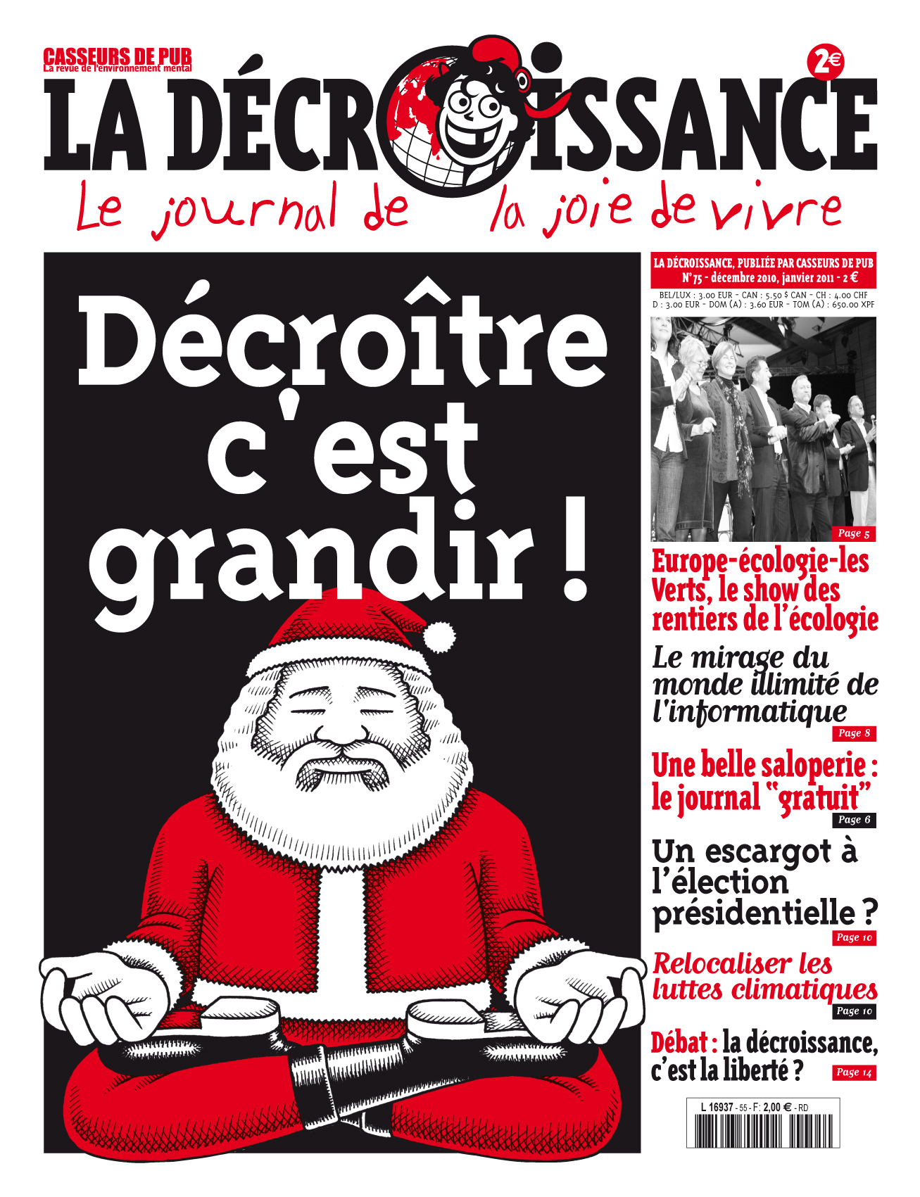 couverture du journal